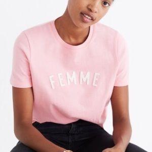 Madewell Femme T-Shirt Blush Rose Pink